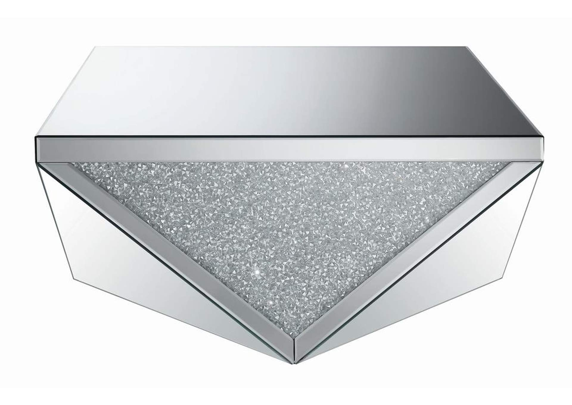 Silver Contemporary Silver Coffee Table,Coaster Furniture