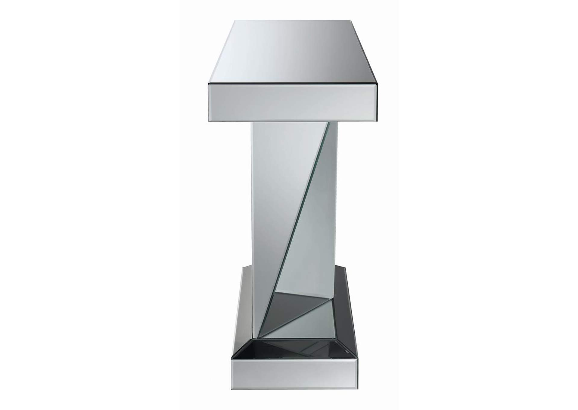 Silver Contemporary Silver Sofa Table,Coaster Furniture