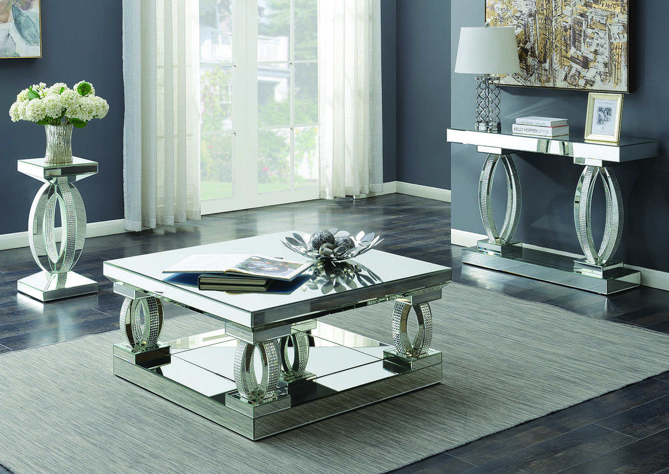 Silver End Table,Coaster Furniture