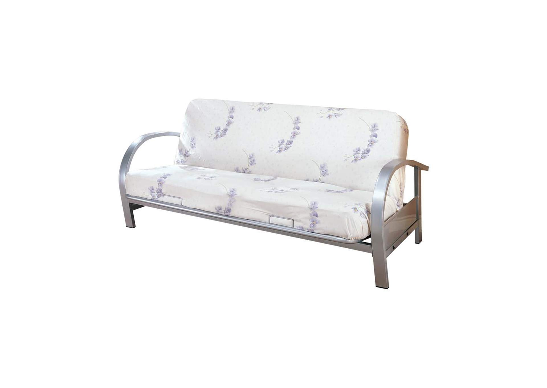 Silver Transitional Silver Futon Frame,Coaster Furniture