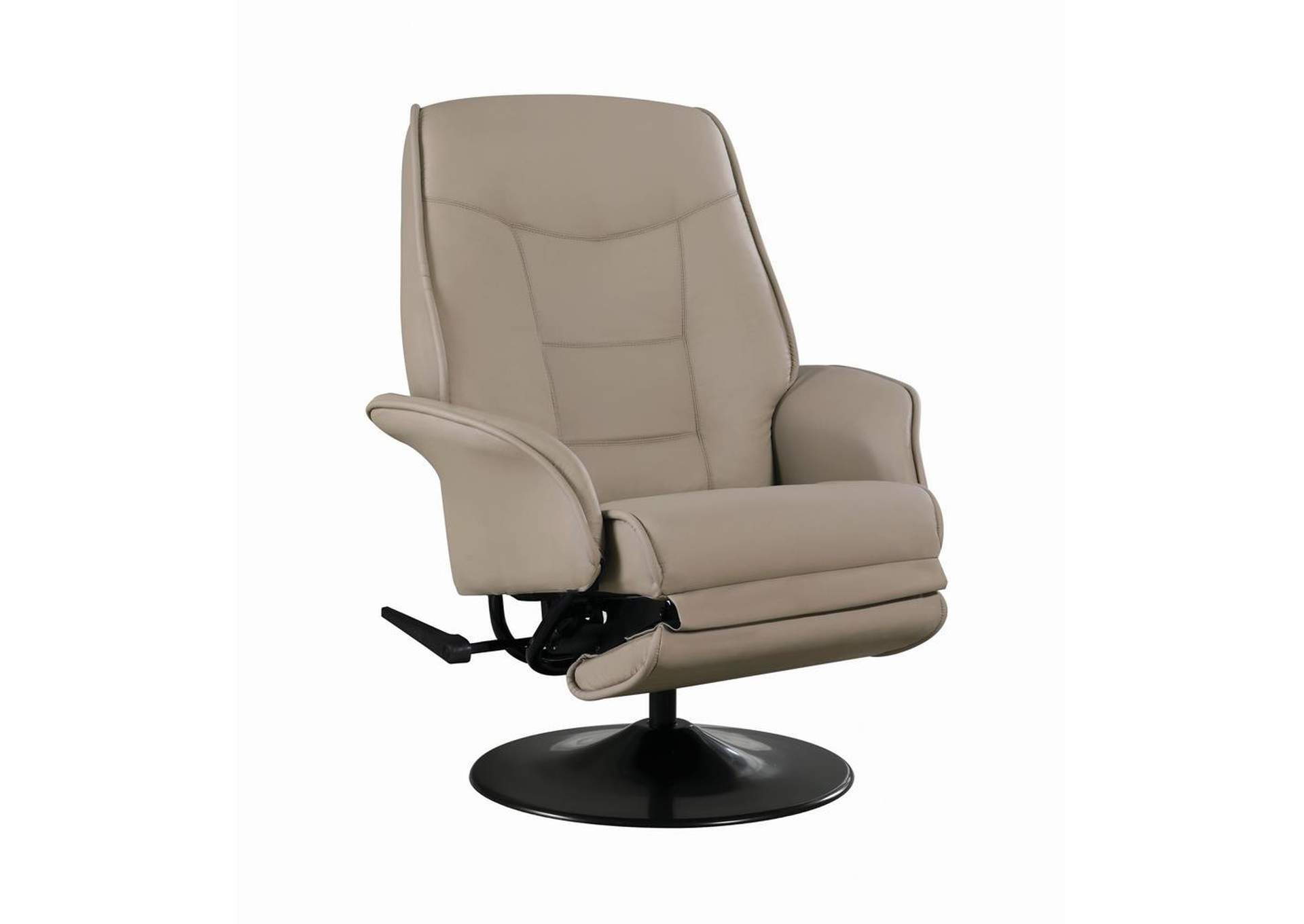 Zorba Berri Contemporary Beige Swivel Recliner,Coaster Furniture