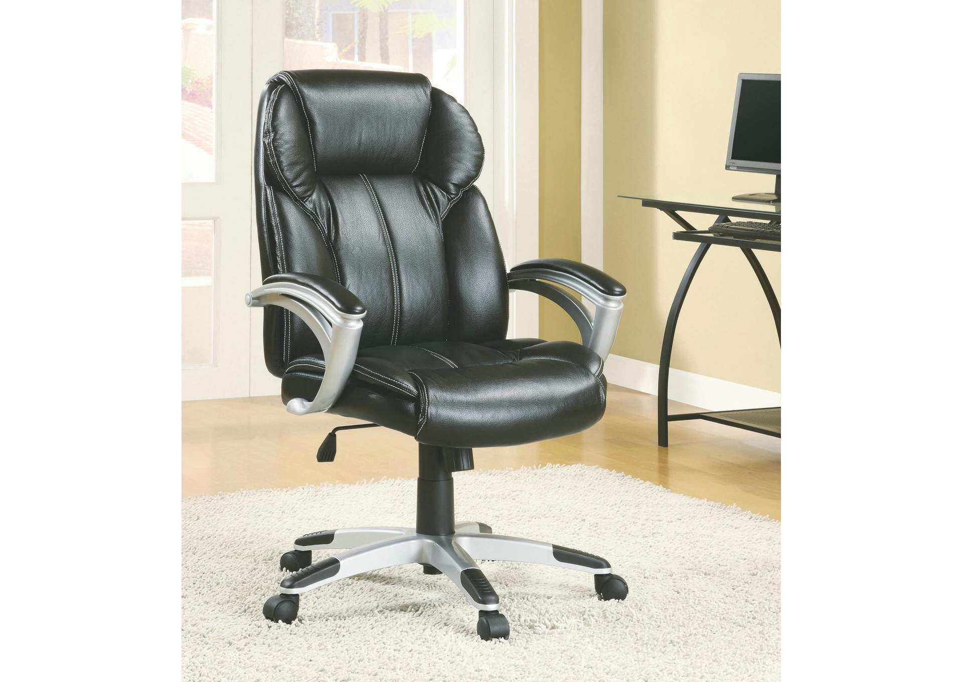 Mine Shaft Transitional Black Office Chair,Coaster Furniture