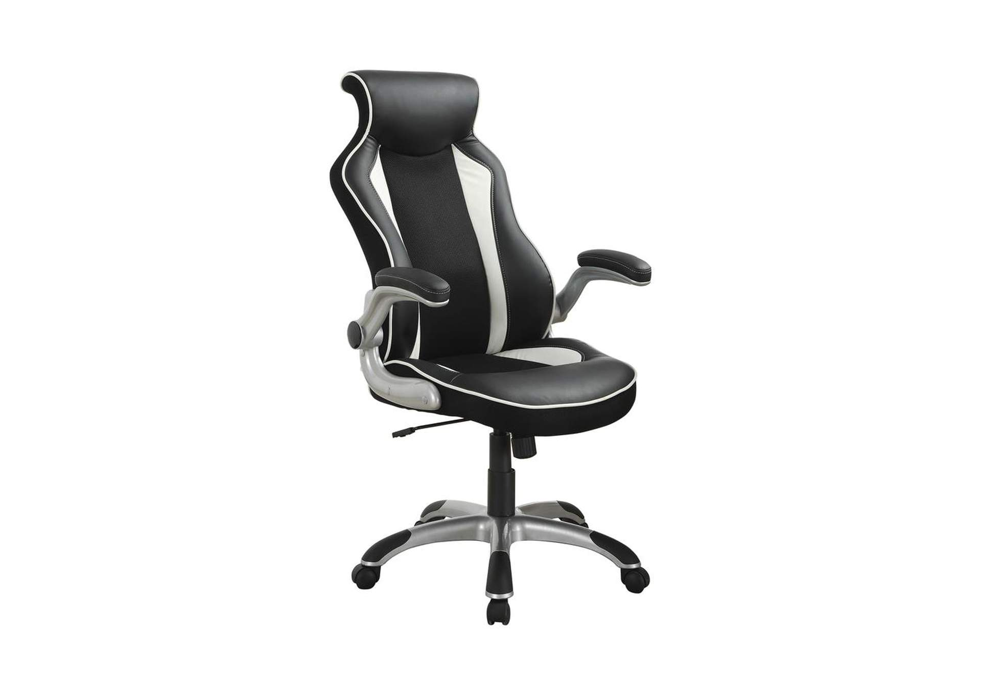 Silver Contemporary Black and White Office Chair,Coaster Furniture