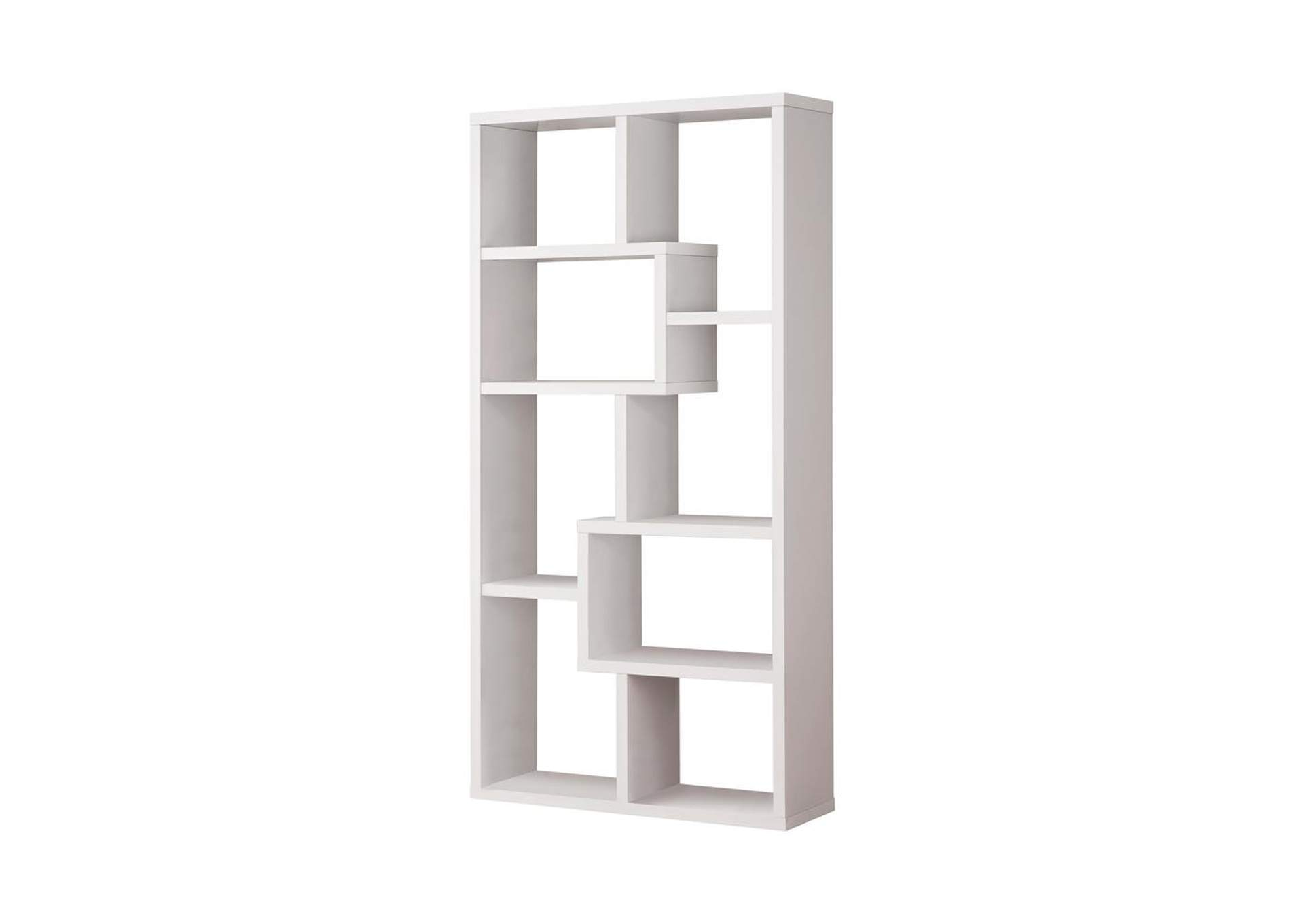 White Casual White Bookcase,Coaster Furniture