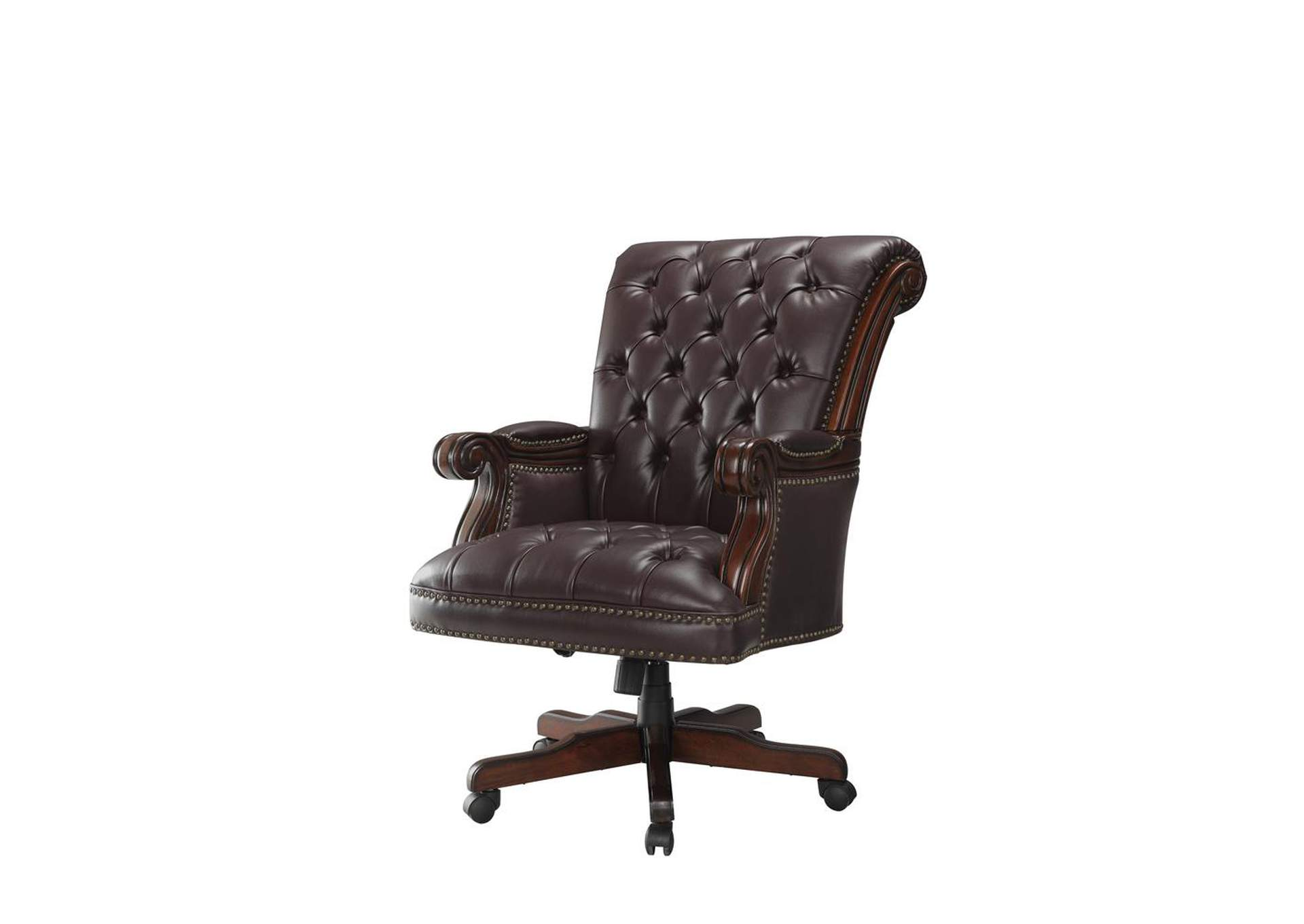 Matterhorn Transitional Dark Brown Office Chair,Coaster Furniture