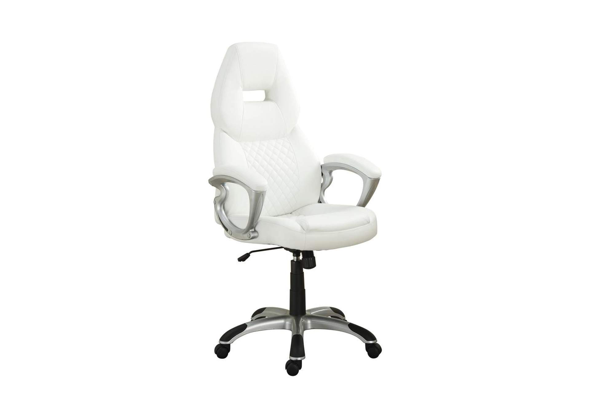 Silver Contemporary White Office Chair,Coaster Furniture
