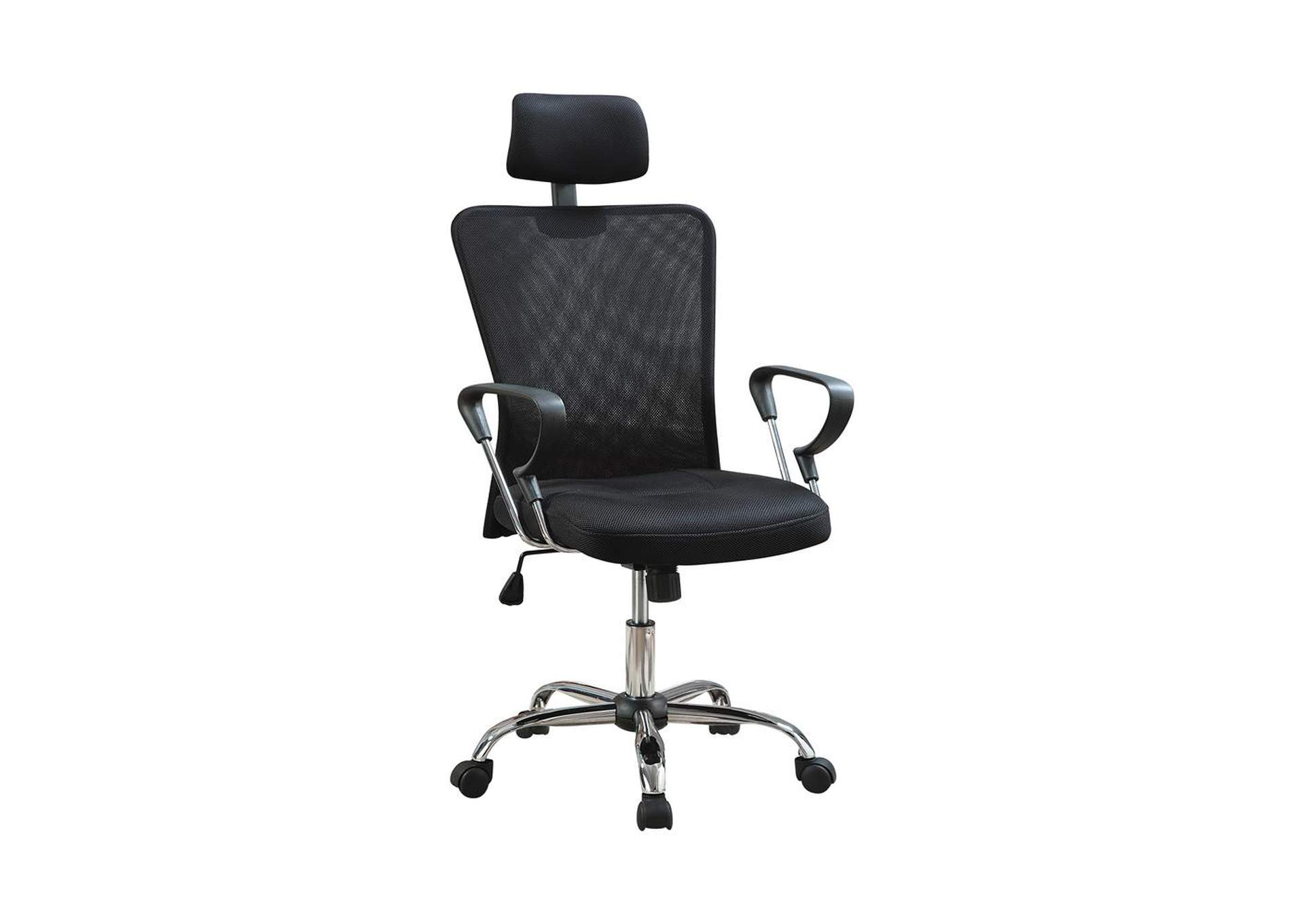 Tuna Casual Black Office Chair W/ Headrest,Coaster Furniture