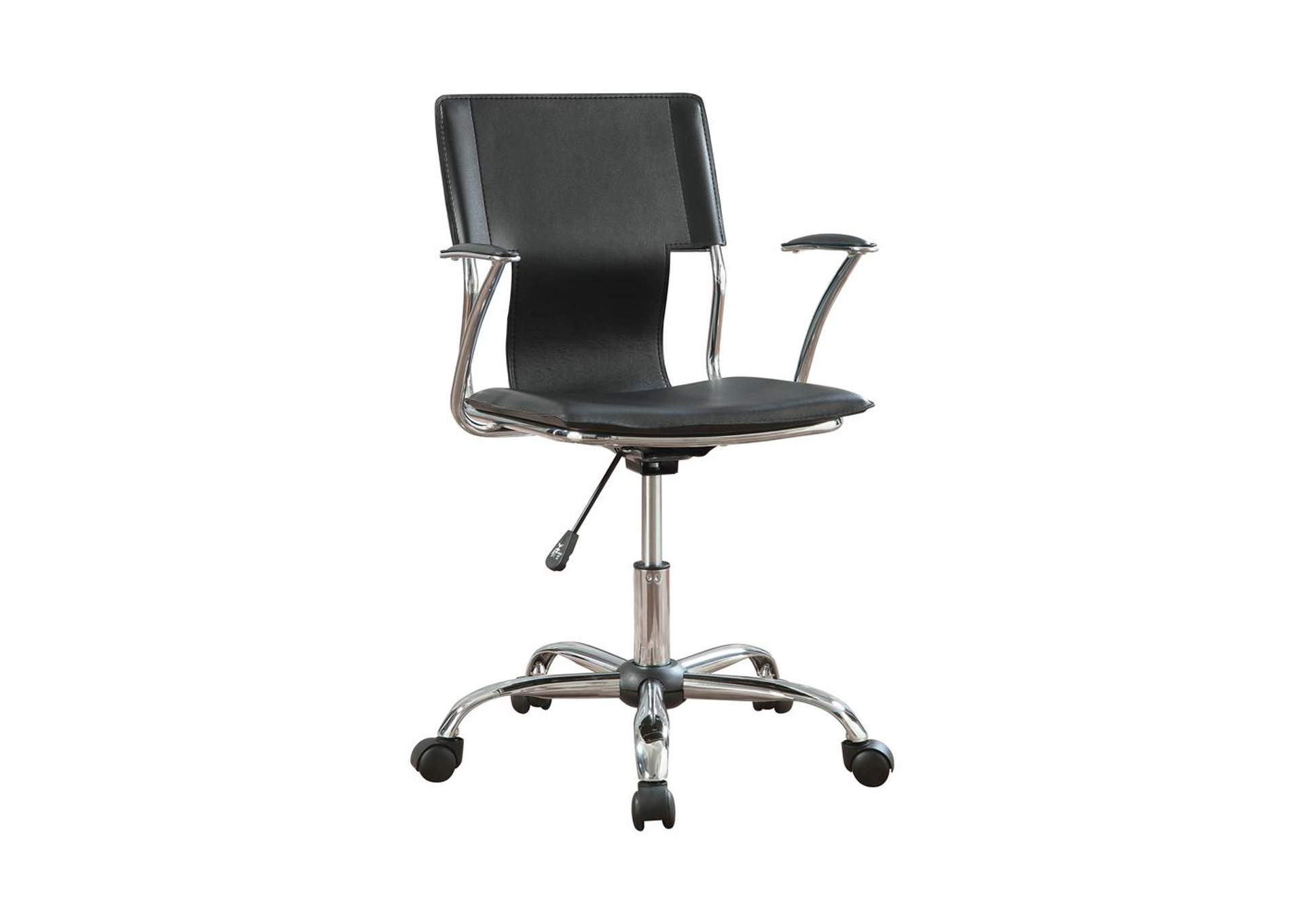 Tundora Contemporary Black Adjustable Office Chair,Coaster Furniture