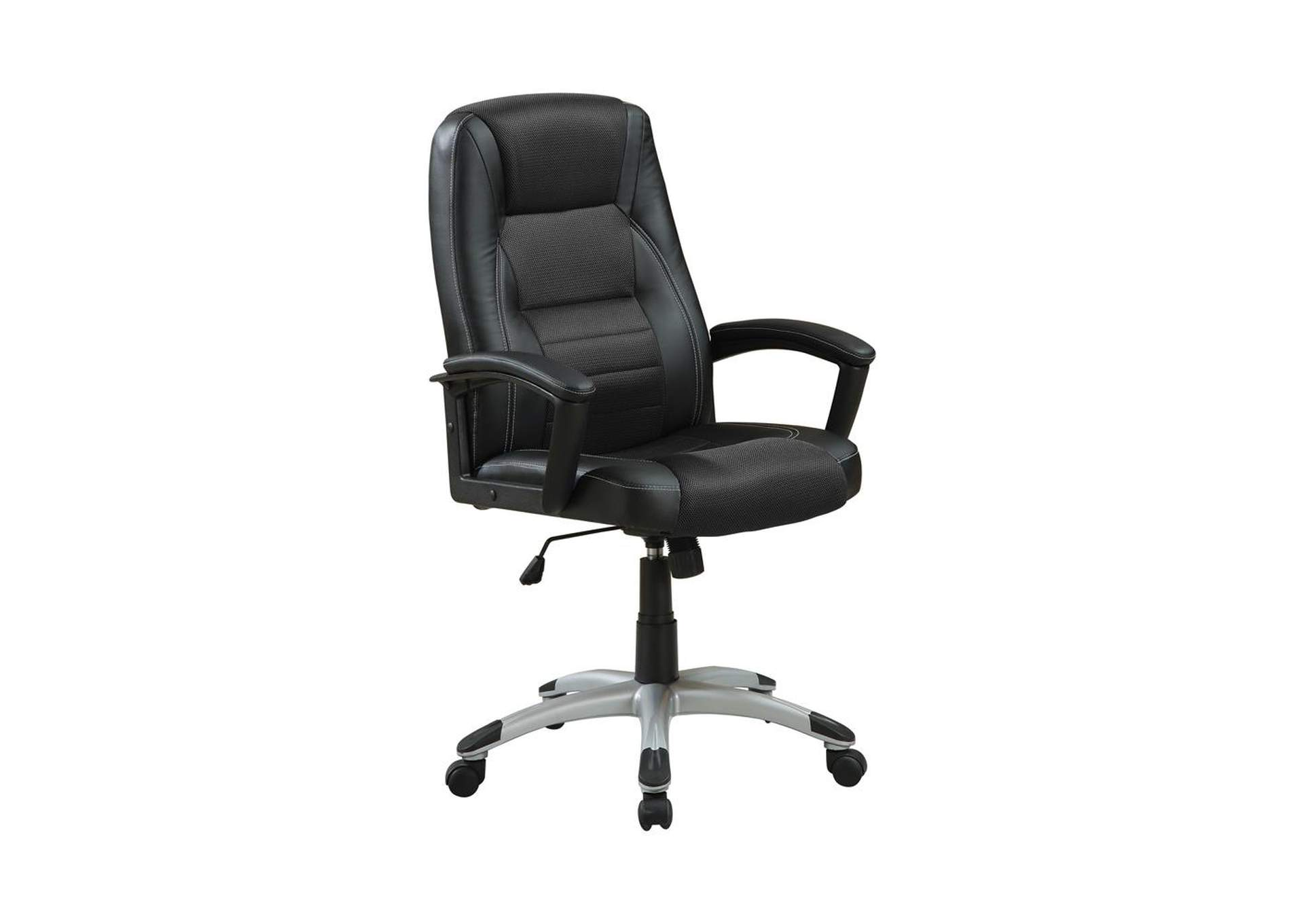 Silver Casual Black Office Chair,Coaster Furniture