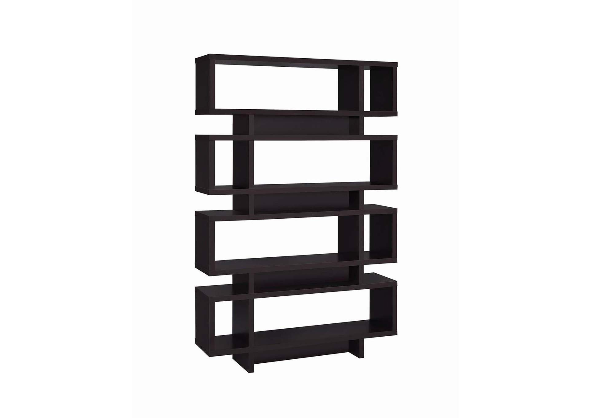 Cappuccino Contemporary Cappuccino Bookcase,Coaster Furniture