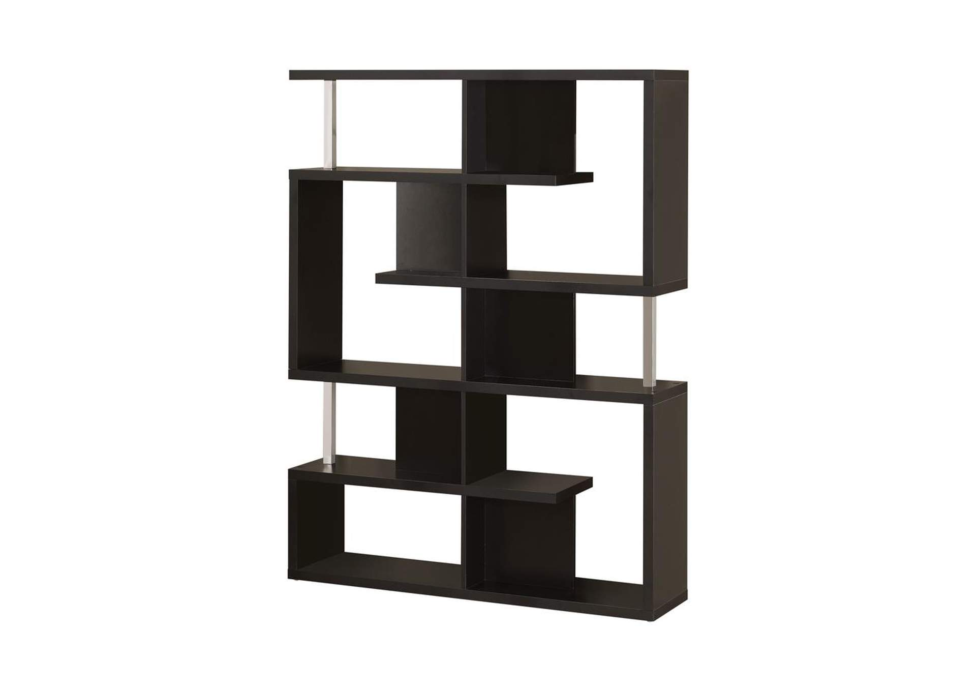 Black Transitional Black Bookcase,Coaster Furniture