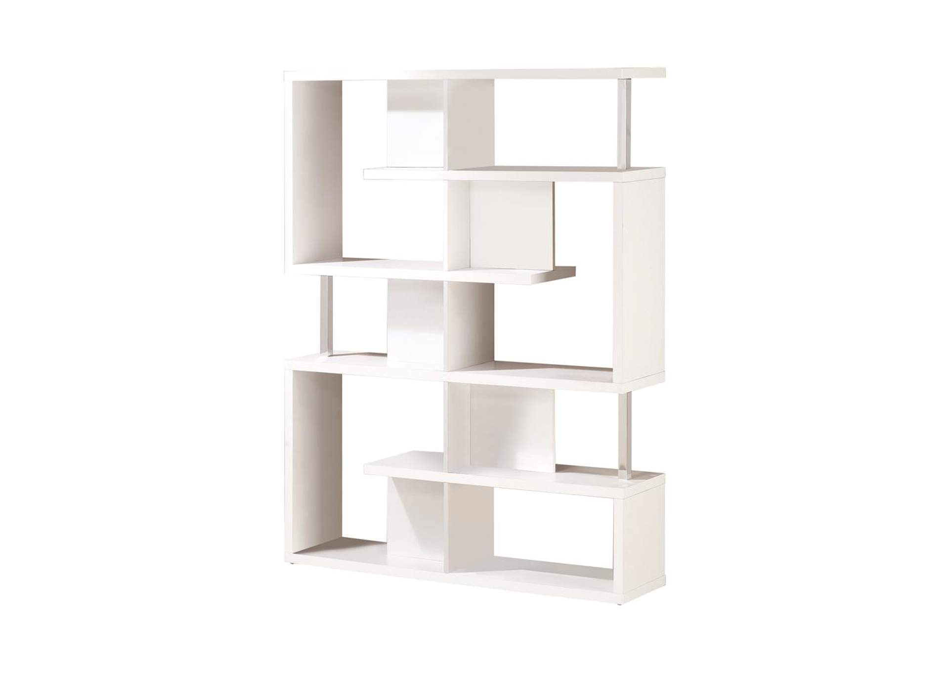 White Transitional White Bookcase,Coaster Furniture