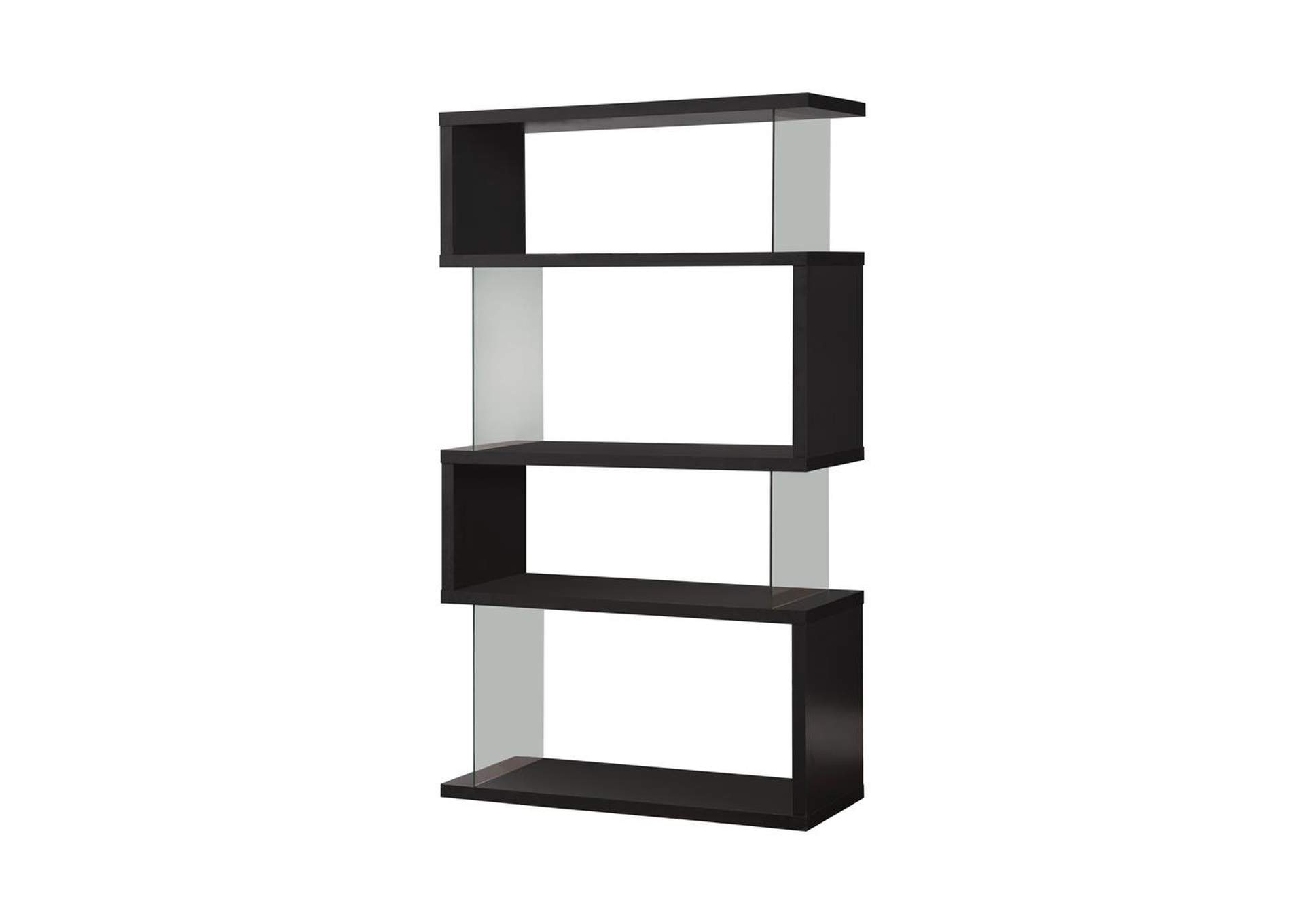 Black Casual Black Bookcase,Coaster Furniture