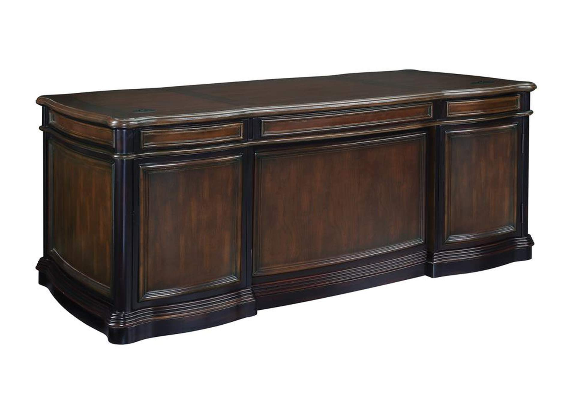 Night Rider Gorman Traditional Espresso Executive Desk,Coaster Furniture