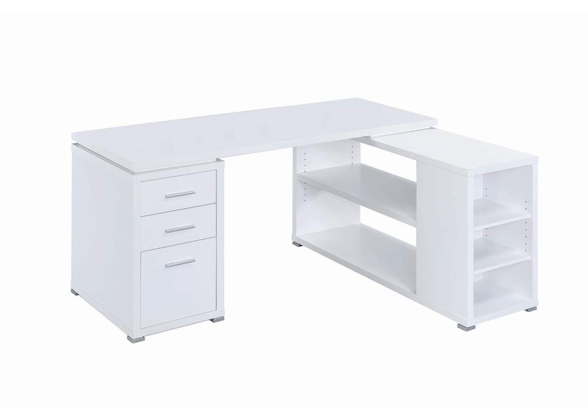 White Yvette White Executive Desk,Coaster Furniture