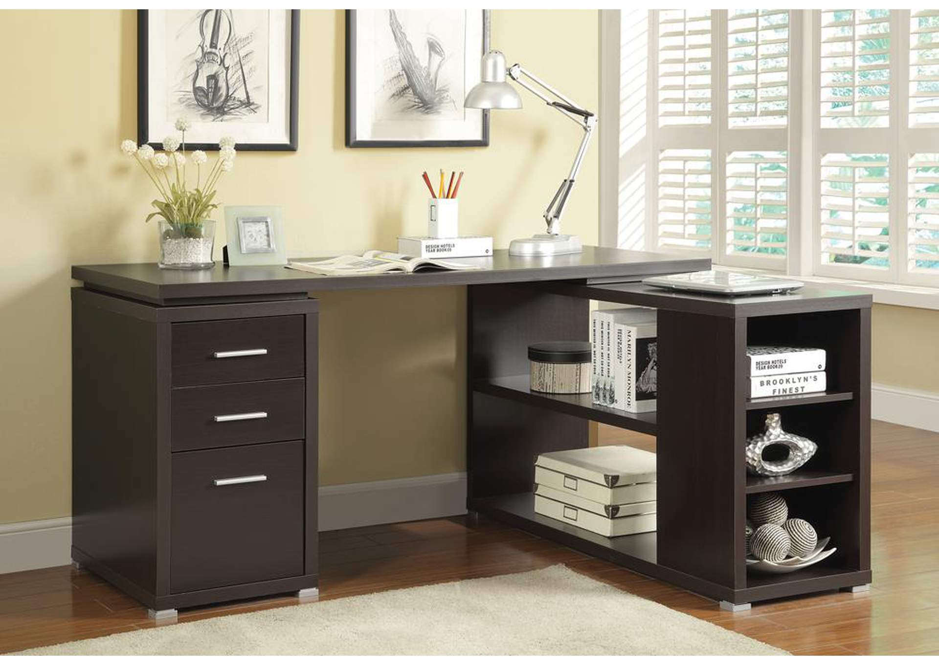 Cappuccino Yvette Executive Desk,Coaster Furniture