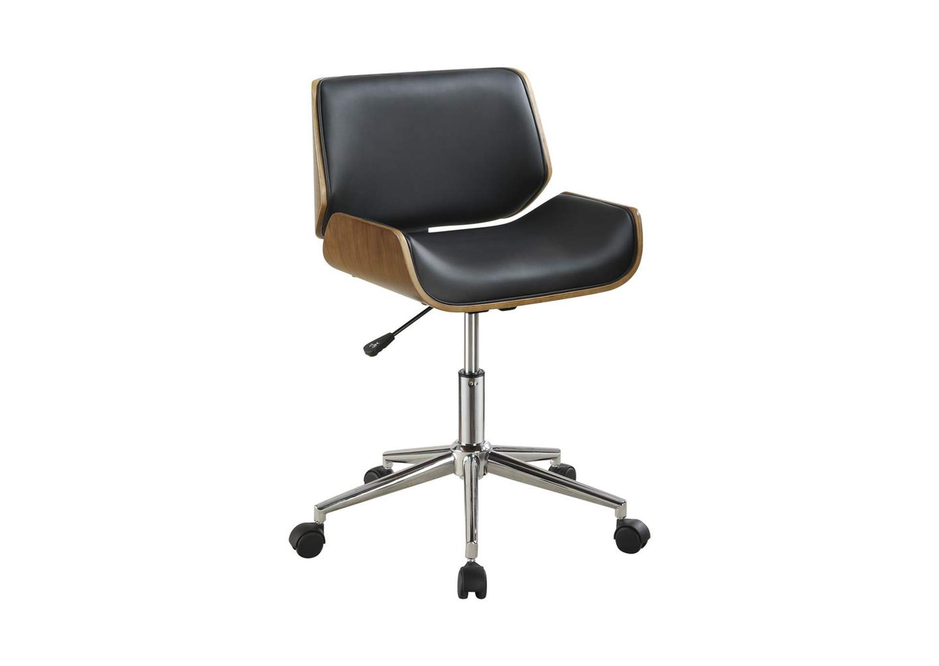 Walnut Modern Black Office Chair,Coaster Furniture