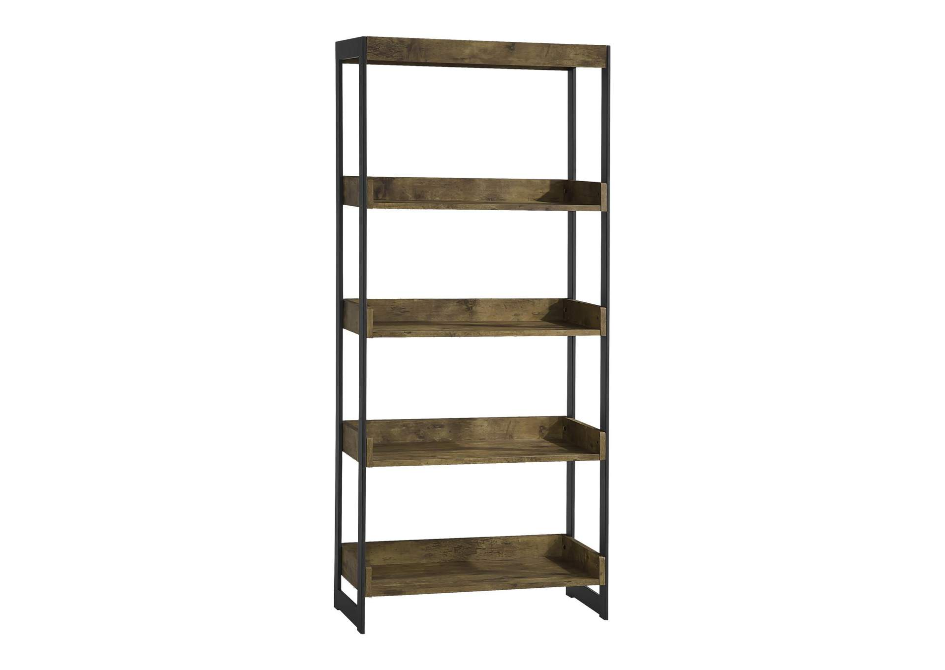 Antique Nutmeg Estrella Industrial Antique Nutmeg Bookcase,Coaster Furniture