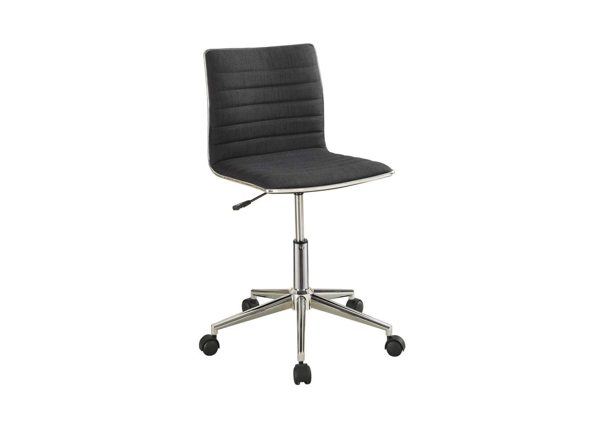 Modern Black and Chrome Home Office Chair,Coaster Furniture
