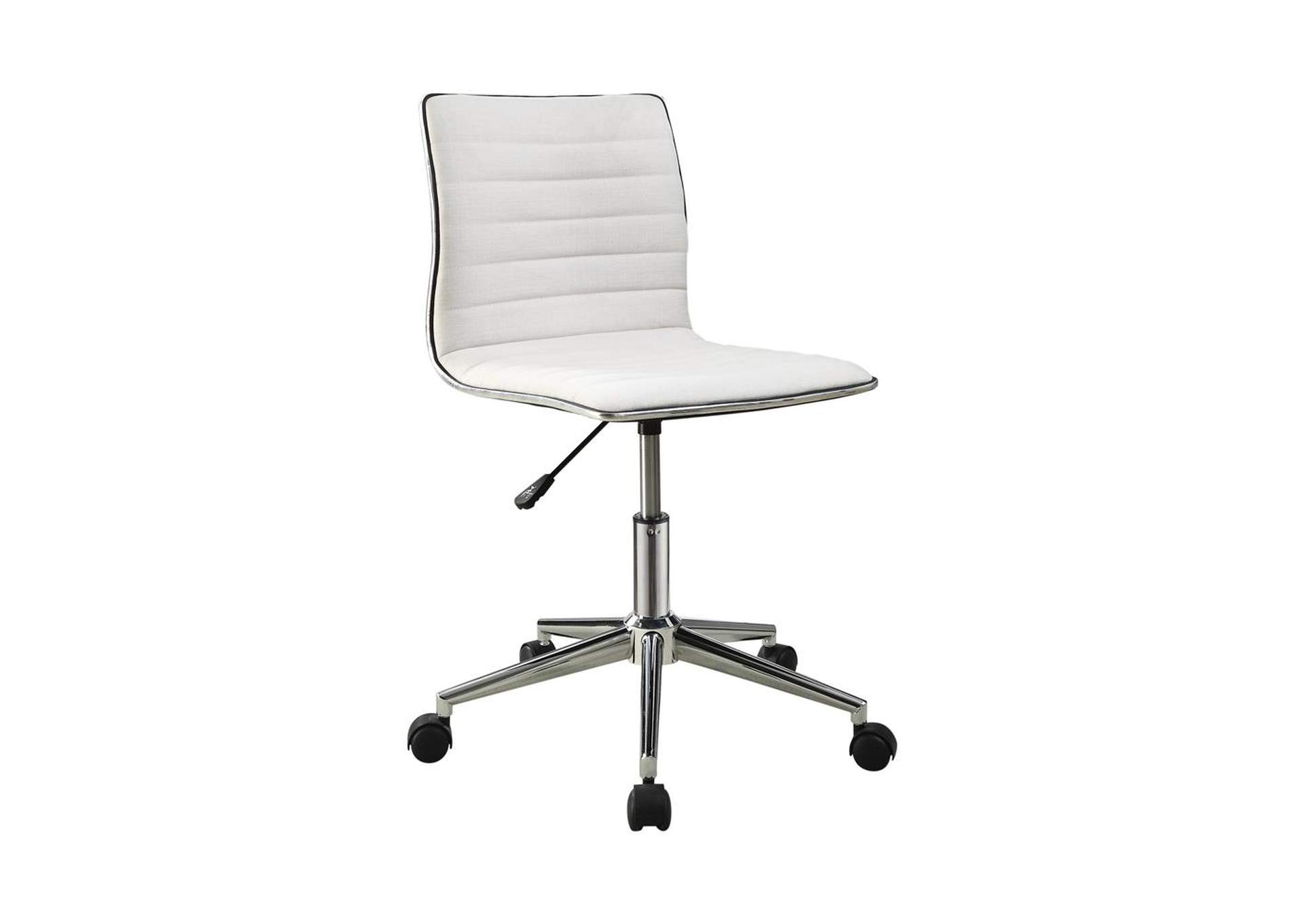 Alto Modern White and Chrome Home Office Chair,Coaster Furniture