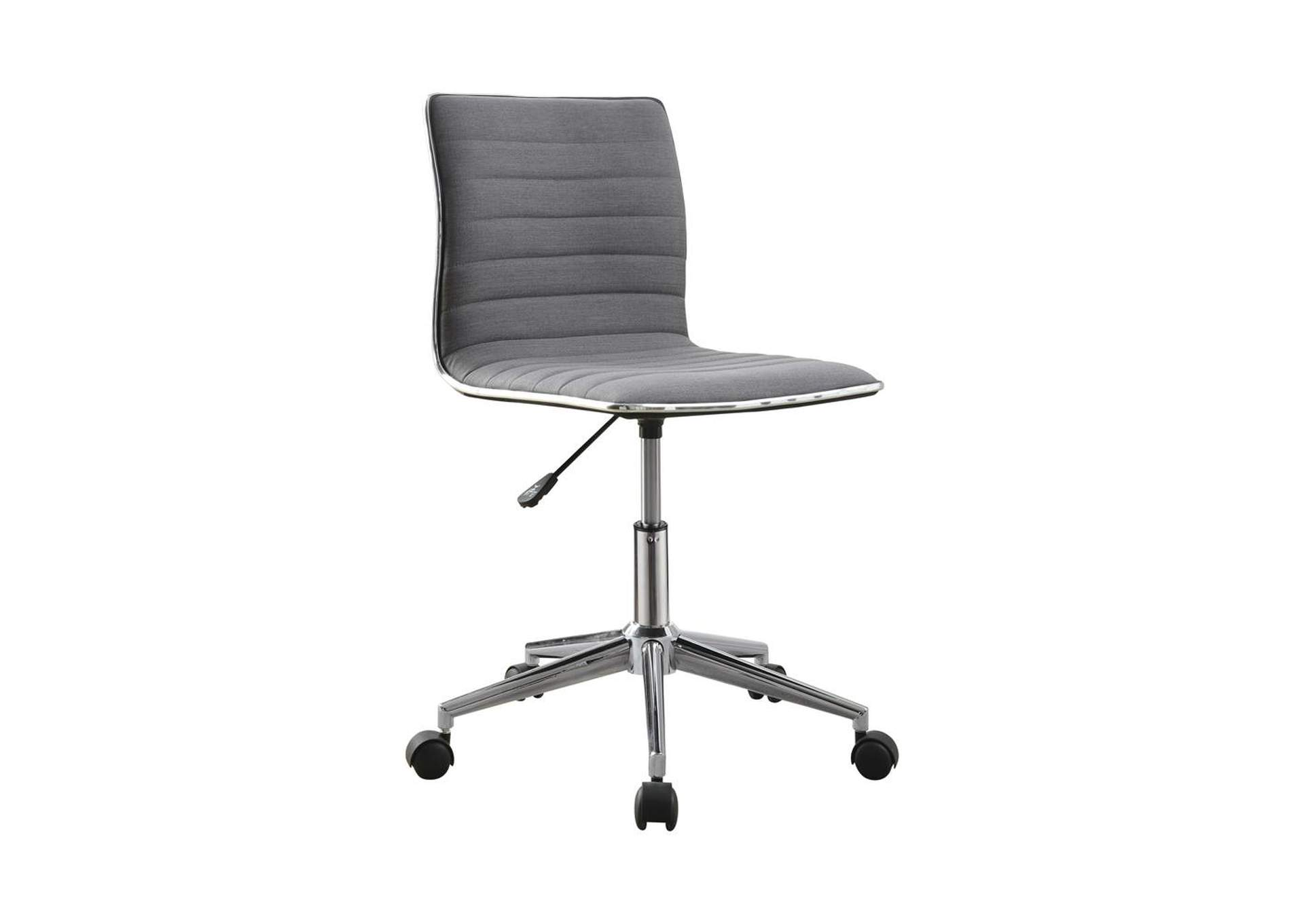 Mid Gray Modern Grey and Chrome Home Office Chair,Coaster Furniture