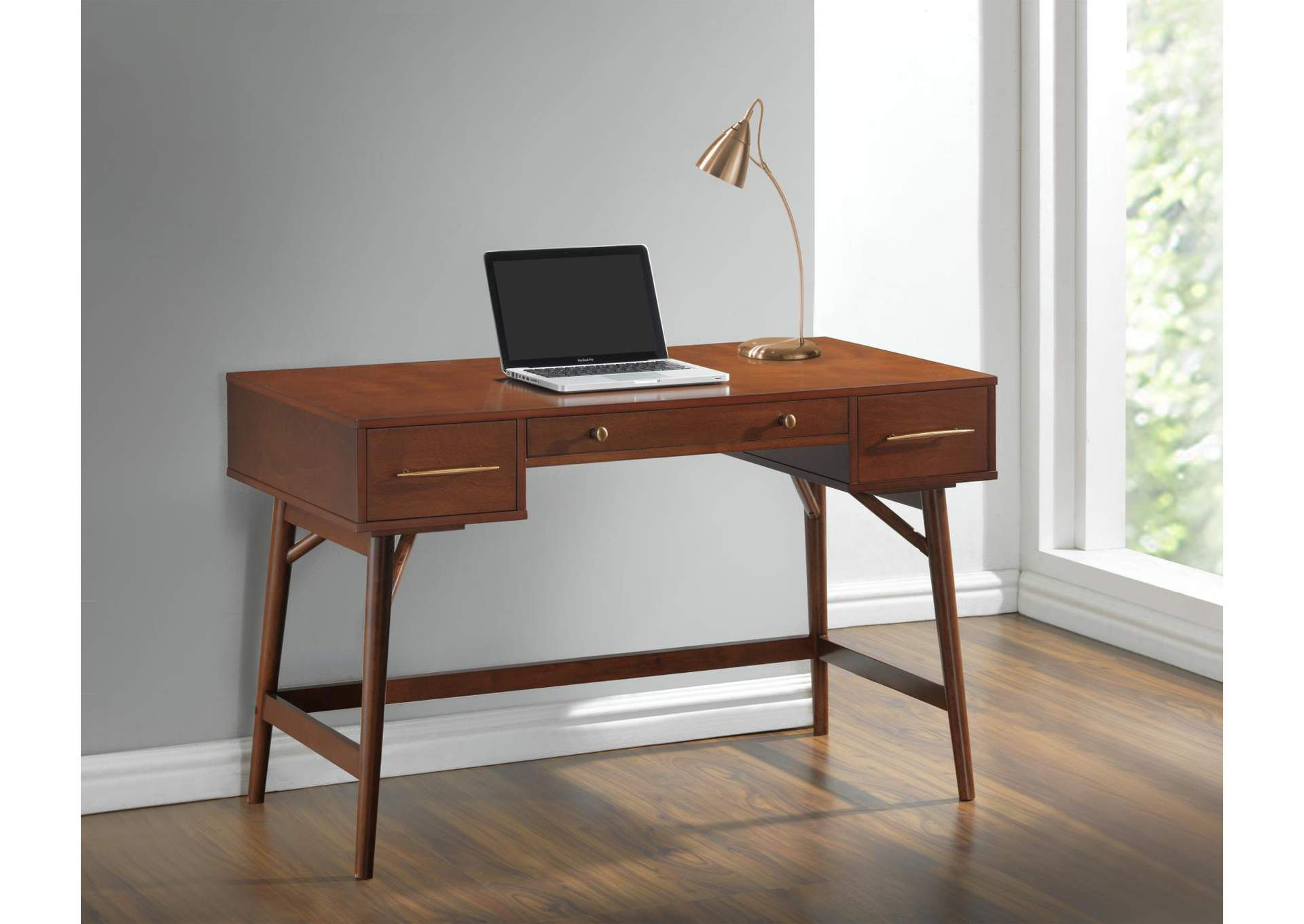Image of: Irish Coffee Transitional Walnut Writing Desk Best Buy Furniture And Mattress