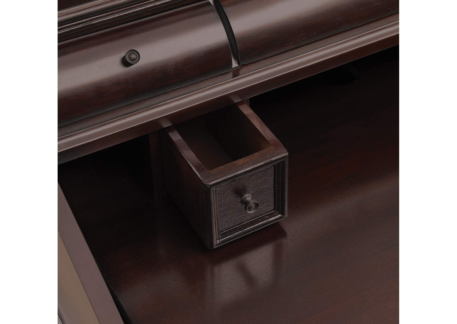 Licorice Warm Brown Secretary Desk,Coaster Furniture