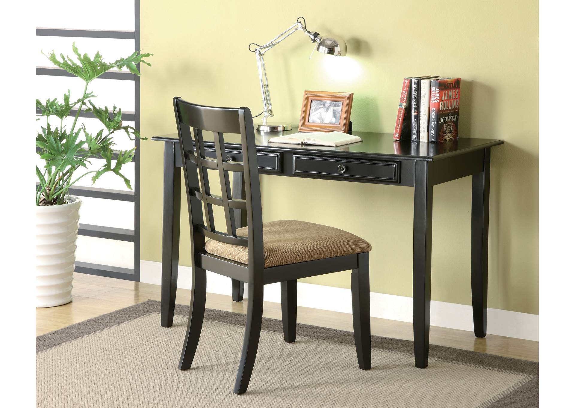 Sidecar Casual Black Desk Set,Coaster Furniture
