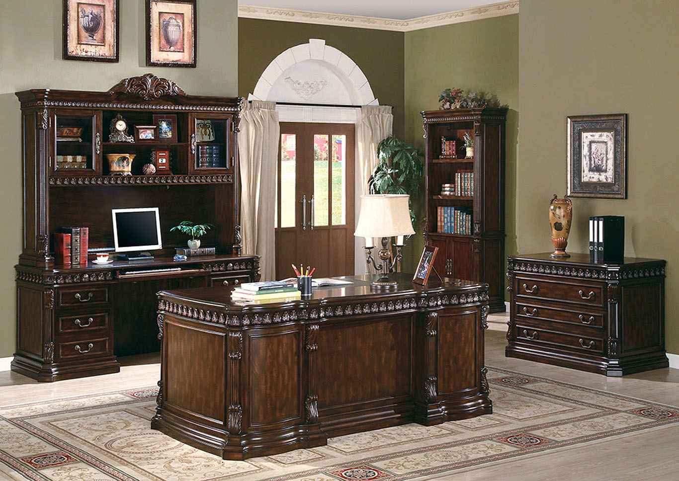 Tucker Rich Brown Credenza Desk,Coaster Furniture