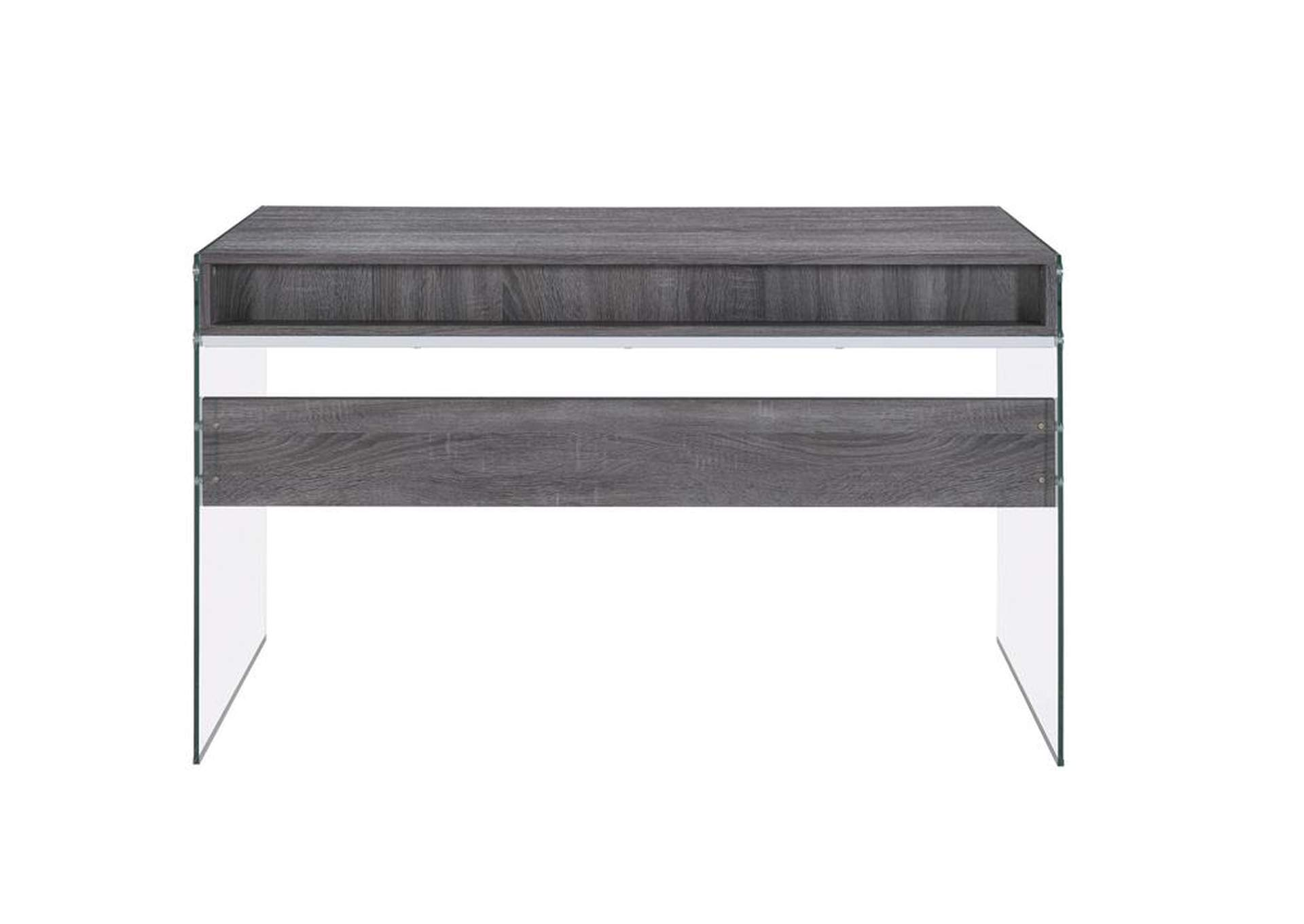 Weathered Grey Contemporary Weathered Grey Writing Desk,Coaster Furniture