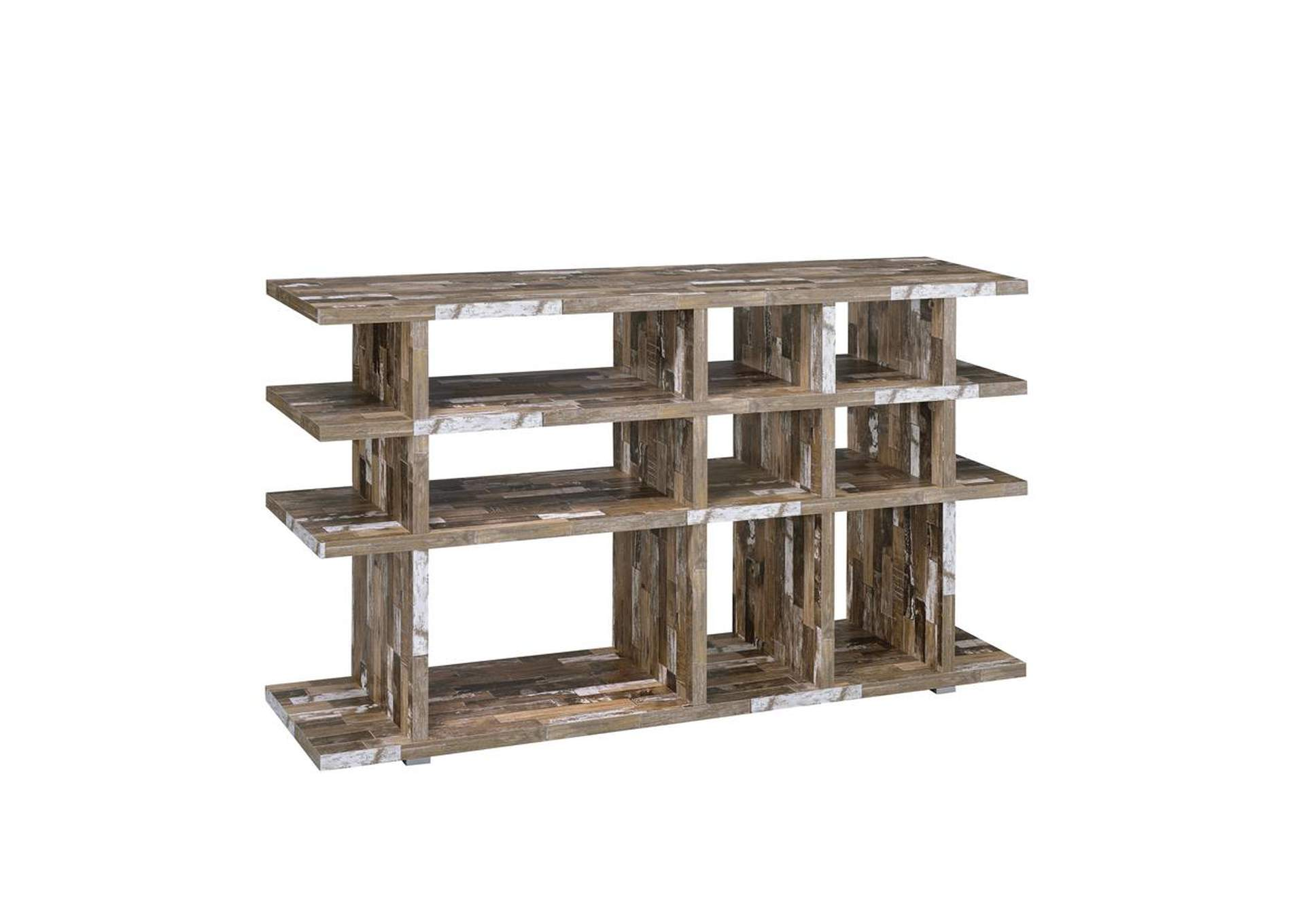 Salvaged Cabin Rustic Salvaged Cabin Low-Profile Bookcase,Coaster Furniture