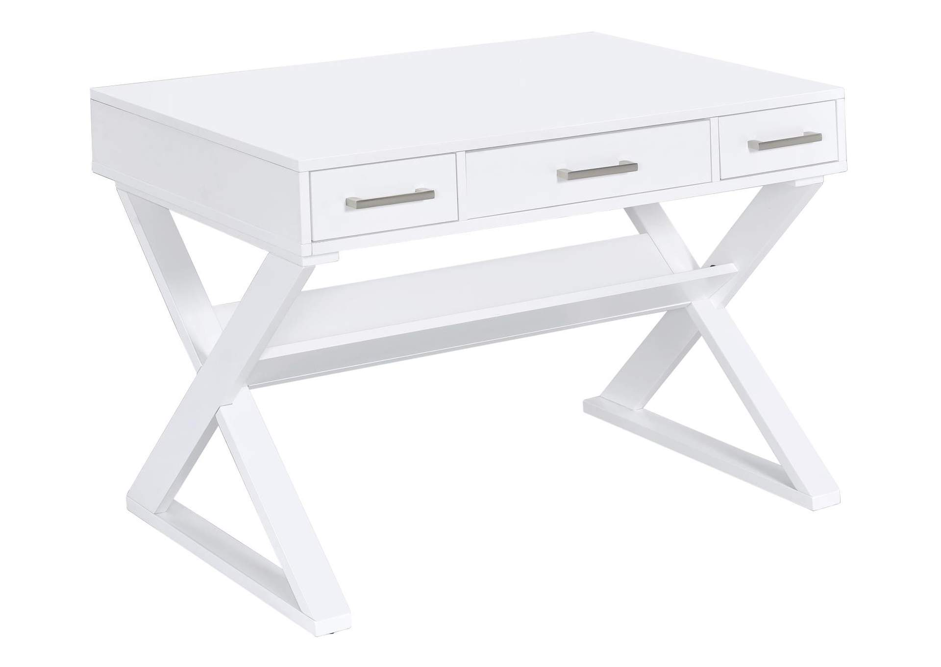 Whisper Casual White Writing Desk,Coaster Furniture