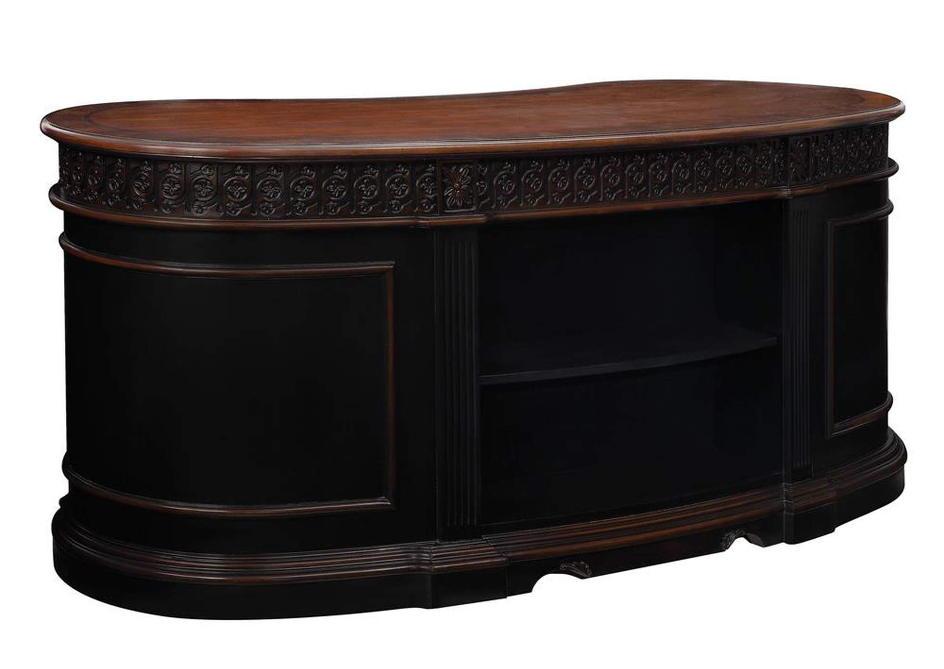 Cod Gray Rowan Traditional Black and Espresso Desk,Coaster Furniture