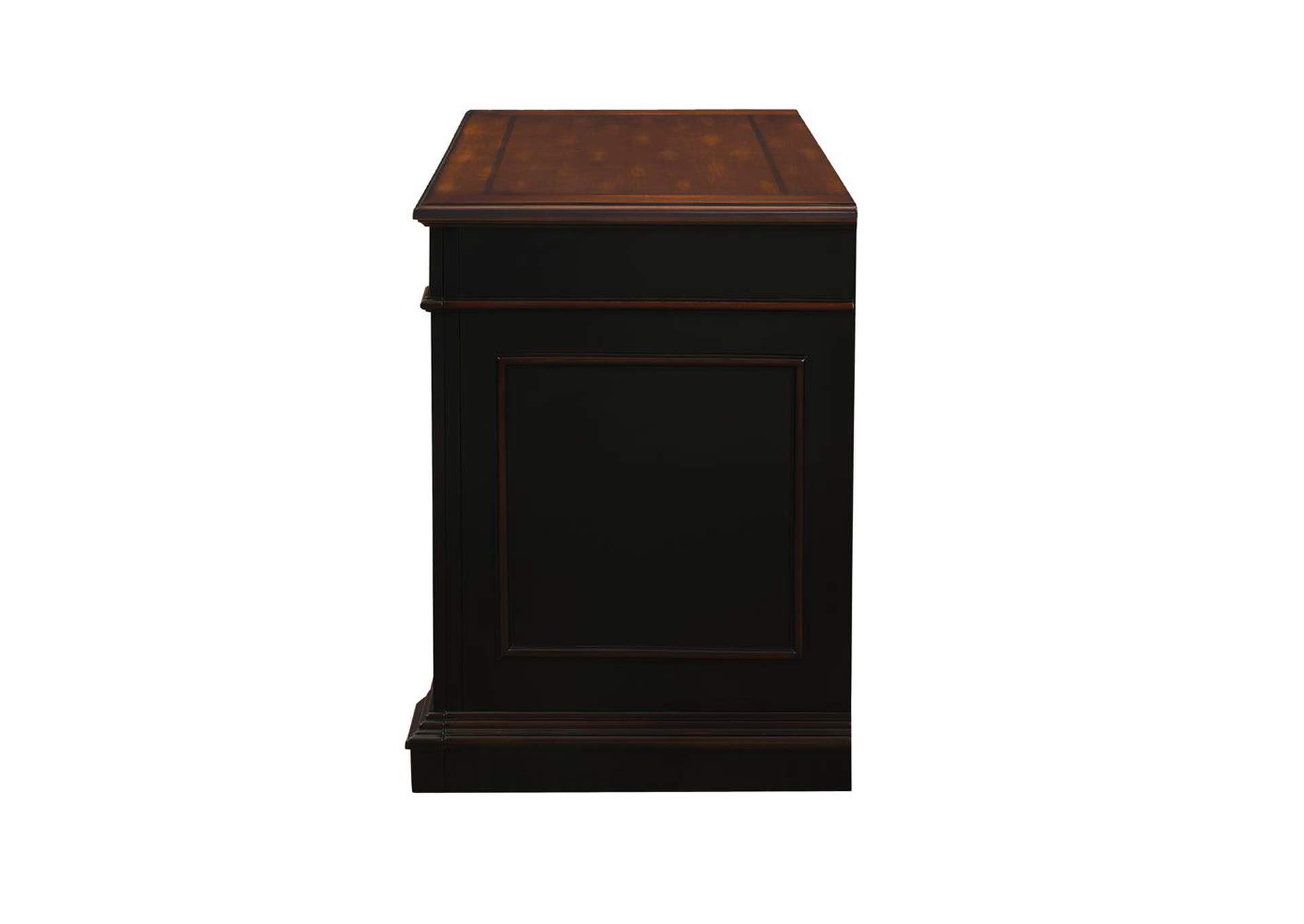 Eerie Black Rowan Traditional Black and Espresso File Cabinet,Coaster Furniture