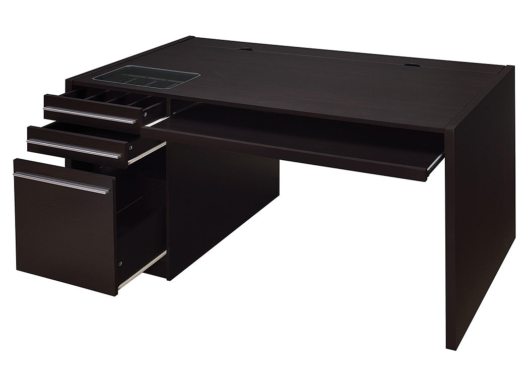 Cappuccino Contemporary Cappuccino Connect-It Computer Desk,Coaster Furniture