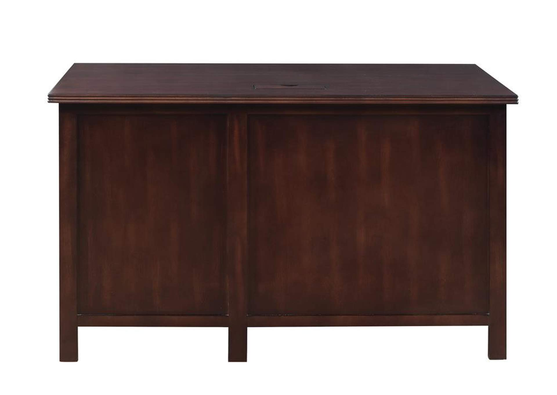 Licorice Traditional Red Brown Writing Desk,Coaster Furniture