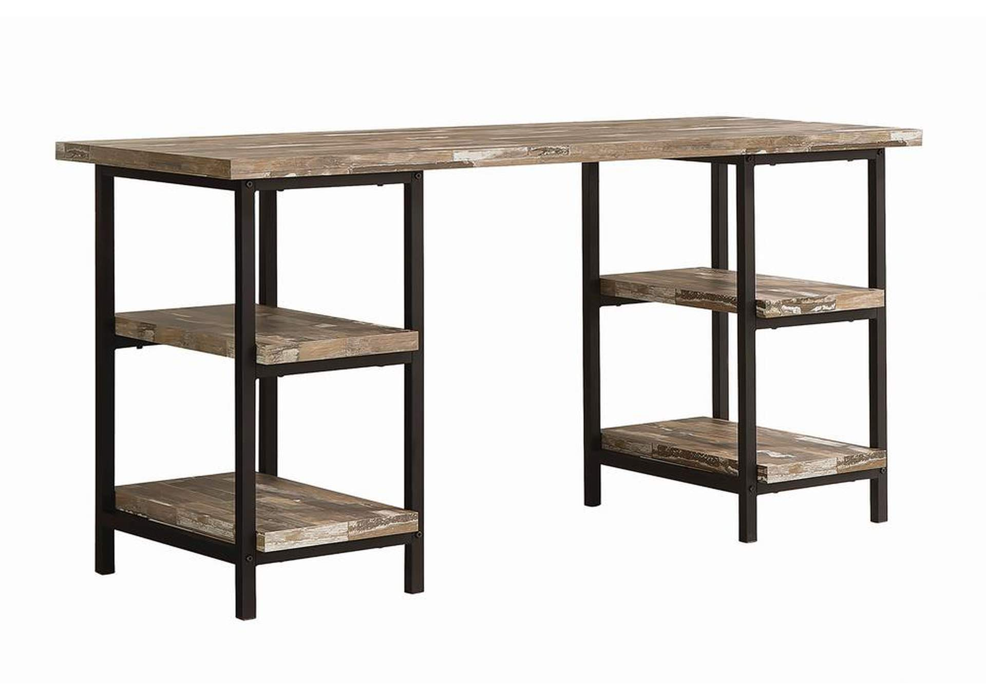 Salvaged Cabin Skelton Industrial Salvaged Cabin Writing Desk,Coaster Furniture