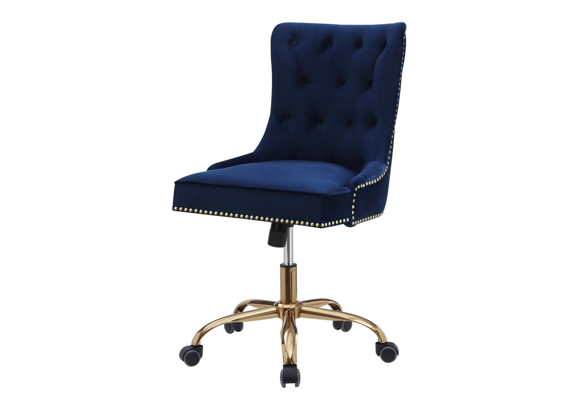 Mirage Modern Blue Velvet Office Chair,Coaster Furniture