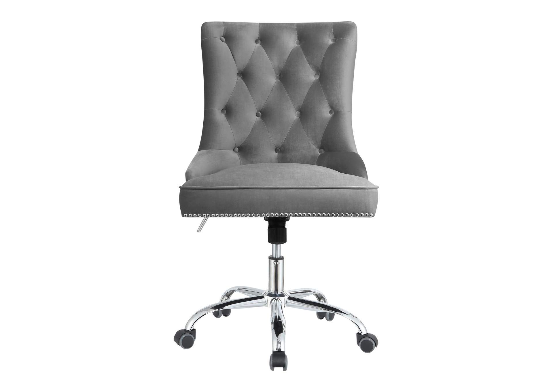 Granite Gray Modern Grey Velvet Office Chair,Coaster Furniture