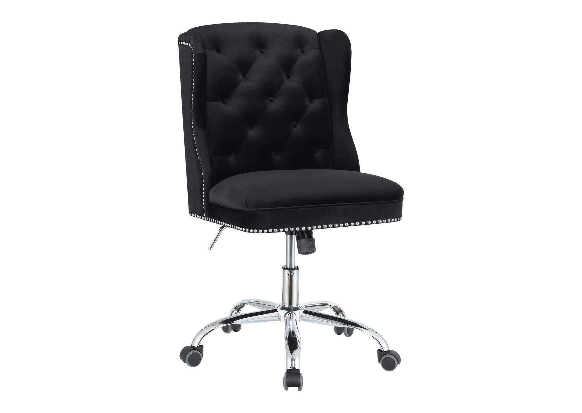 Cod Gray Modern Black Velvet Office Chair,Coaster Furniture
