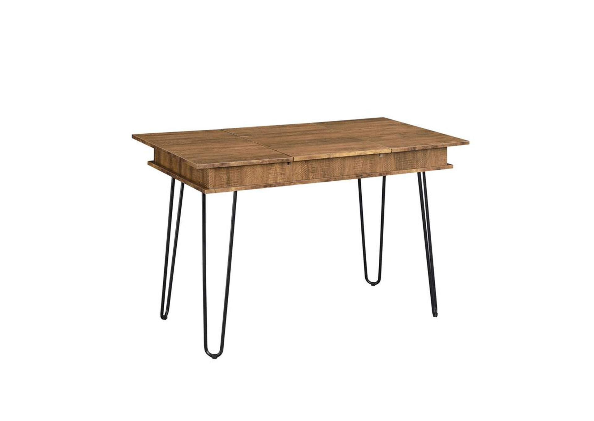 Rustic Amber Sheeran Rustic Amber Writing Desk,Coaster Furniture