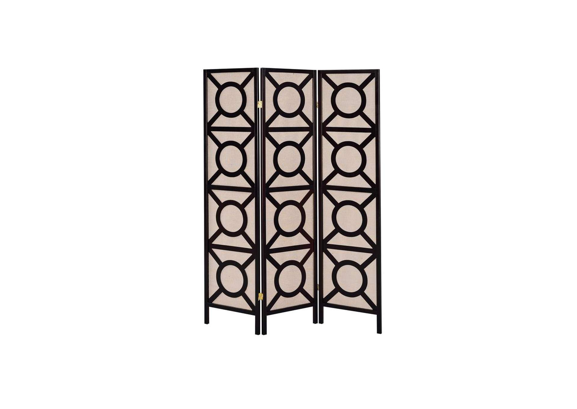 Tan Transitional Cappuccino Folding Screen,Coaster Furniture