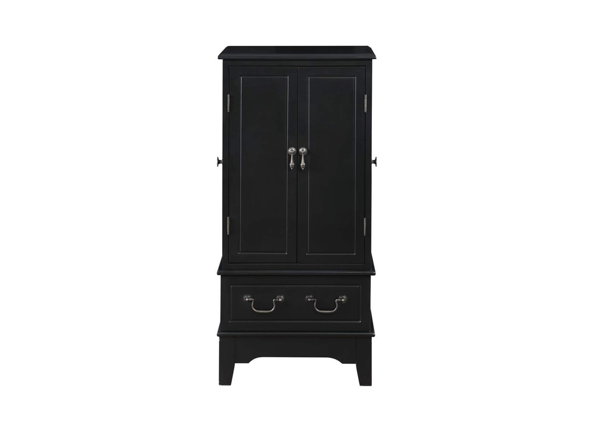 Eerie Black Transitional Black Jewelry Armoire,Coaster Furniture