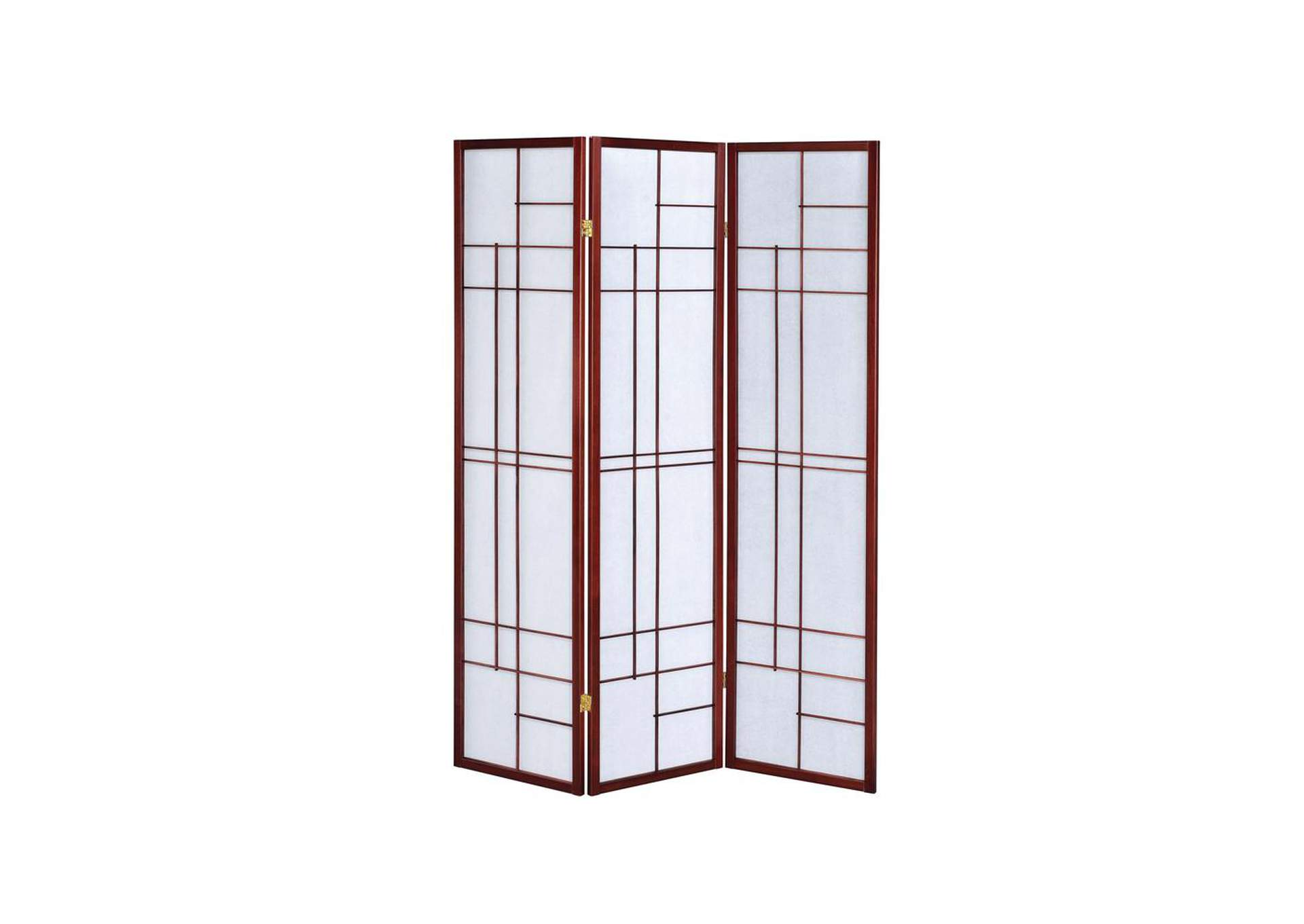 Snuff Transitional Brown Red Three-Panel Screen,Coaster Furniture