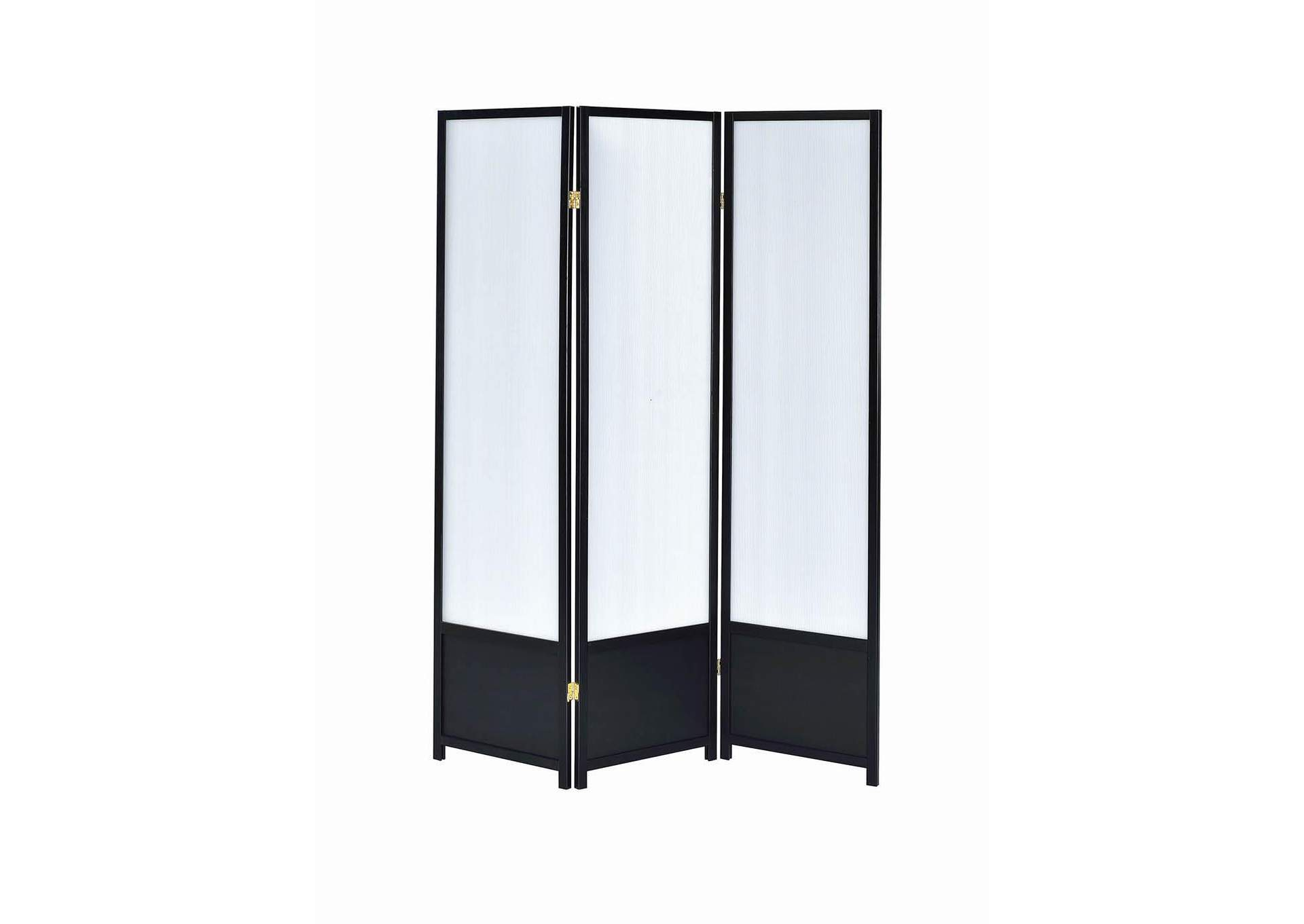 White Contemporary Black Screen,Coaster Furniture