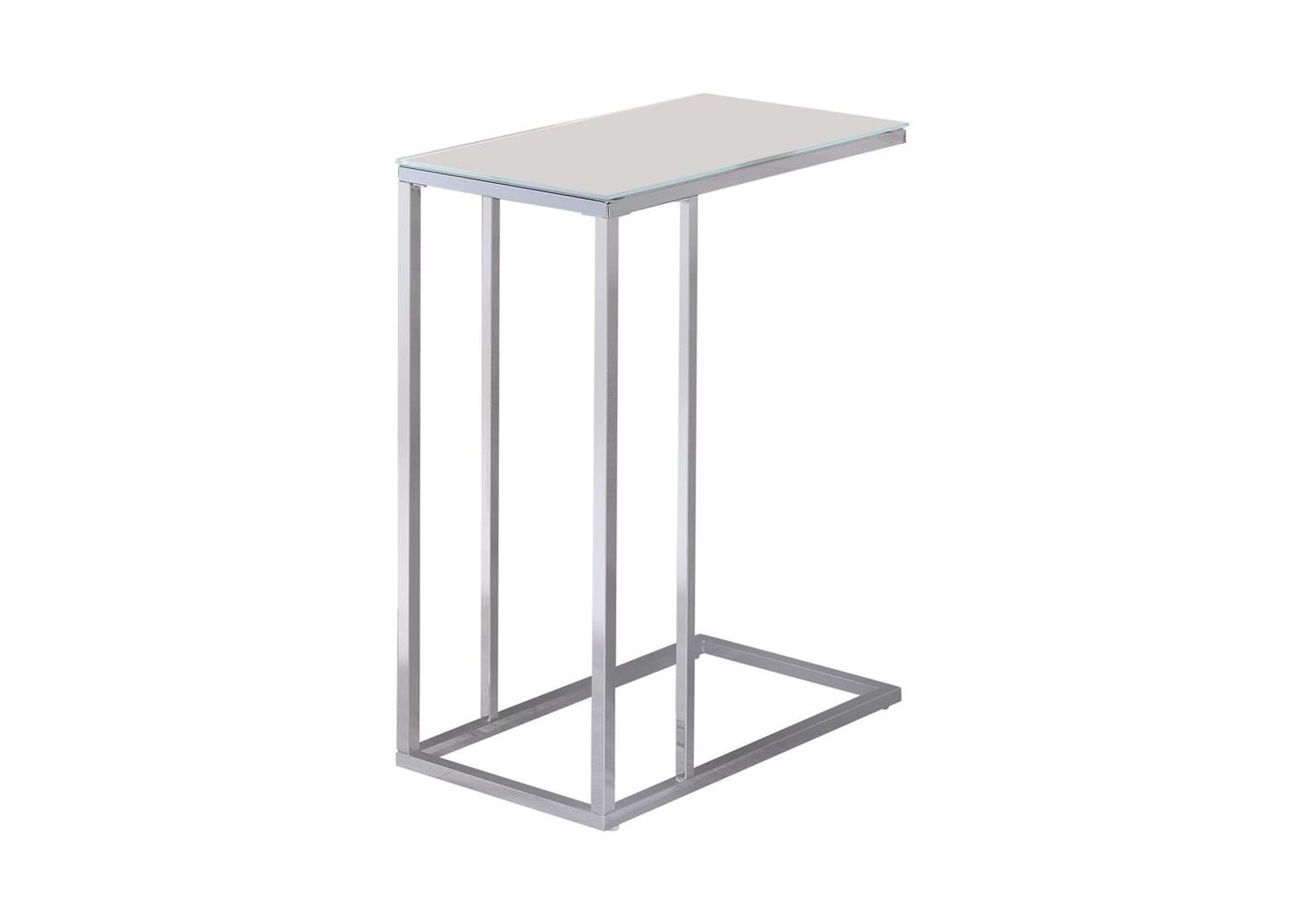 Swiss Coffee Transitional Chrome Snack Table,Coaster Furniture