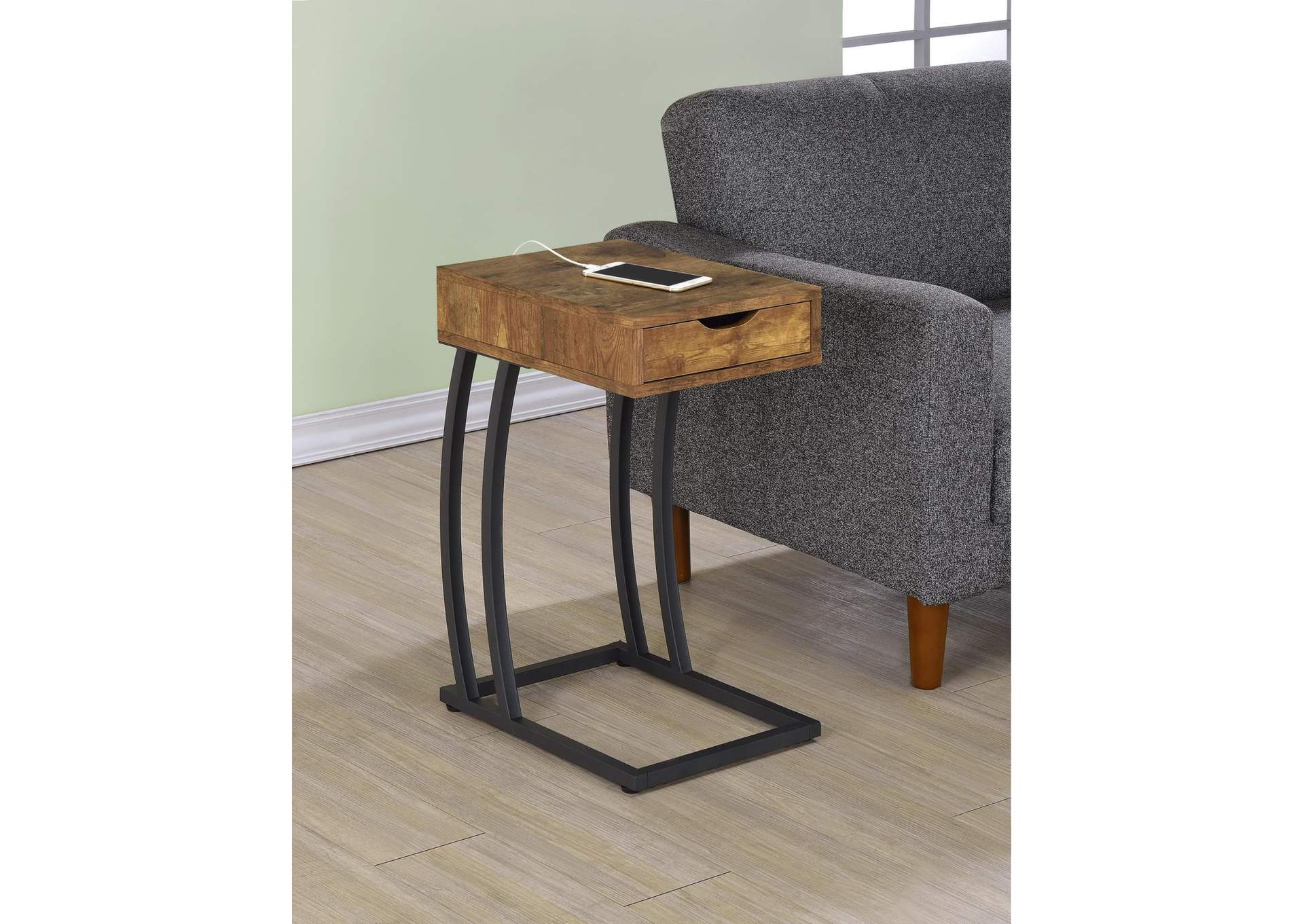 Antique Nutmeg Industrial Antique Nutmeg Accent Table,Coaster Furniture