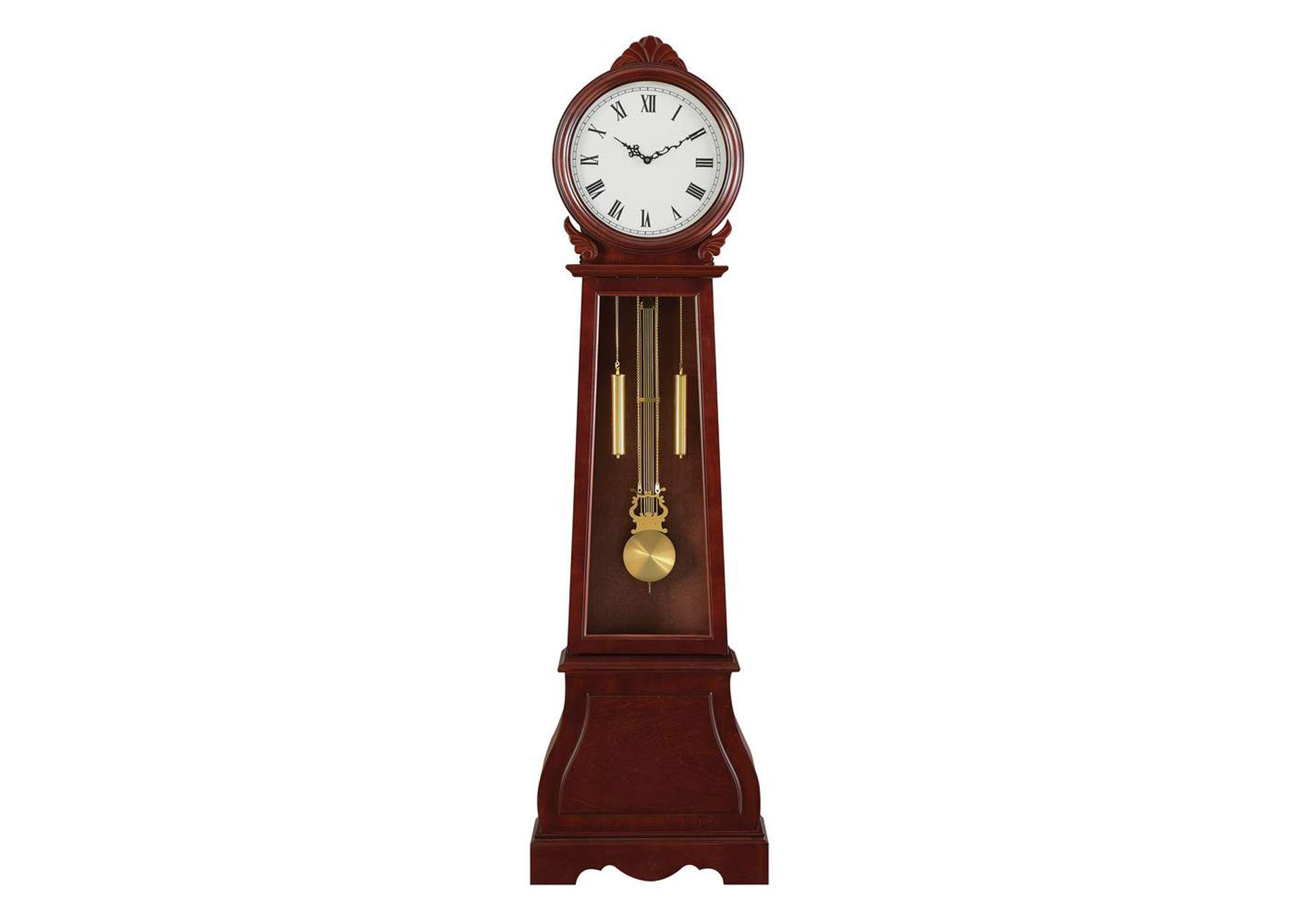 Van Cleef Transitional Brown Grandfather Clock,Coaster Furniture
