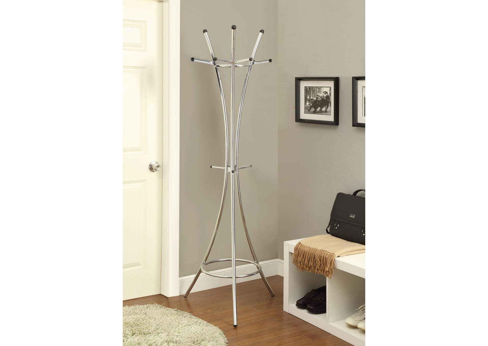 Cultured Pearl Contemporary Cappuccino Coat Rack,Coaster Furniture