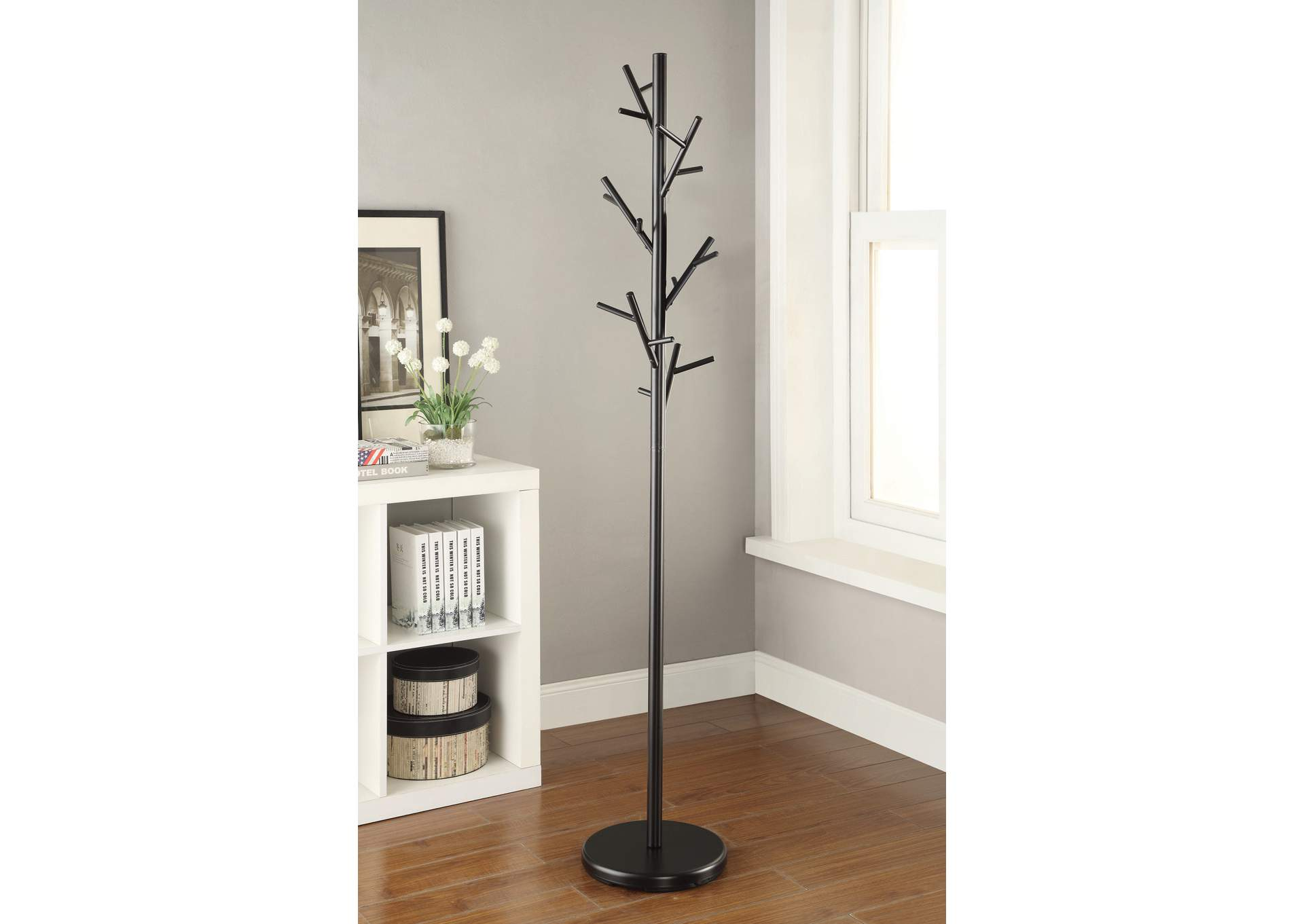 Tide Contemporary Black Coat Rack,Coaster Furniture